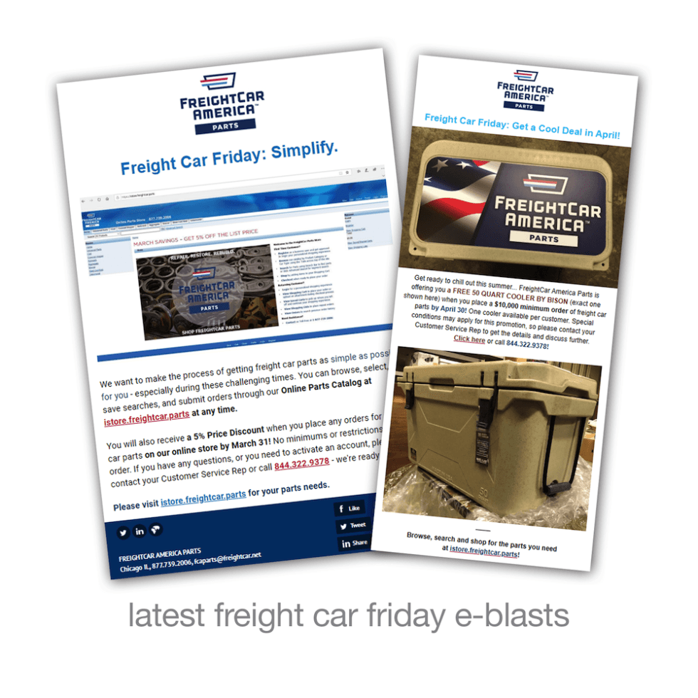latest freight car friday e-blasts