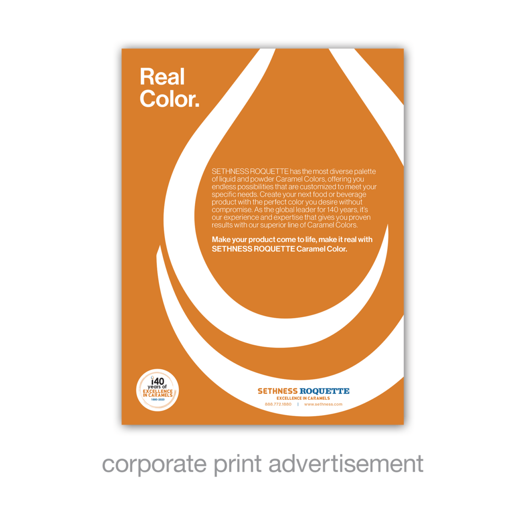 corporate print advertisement