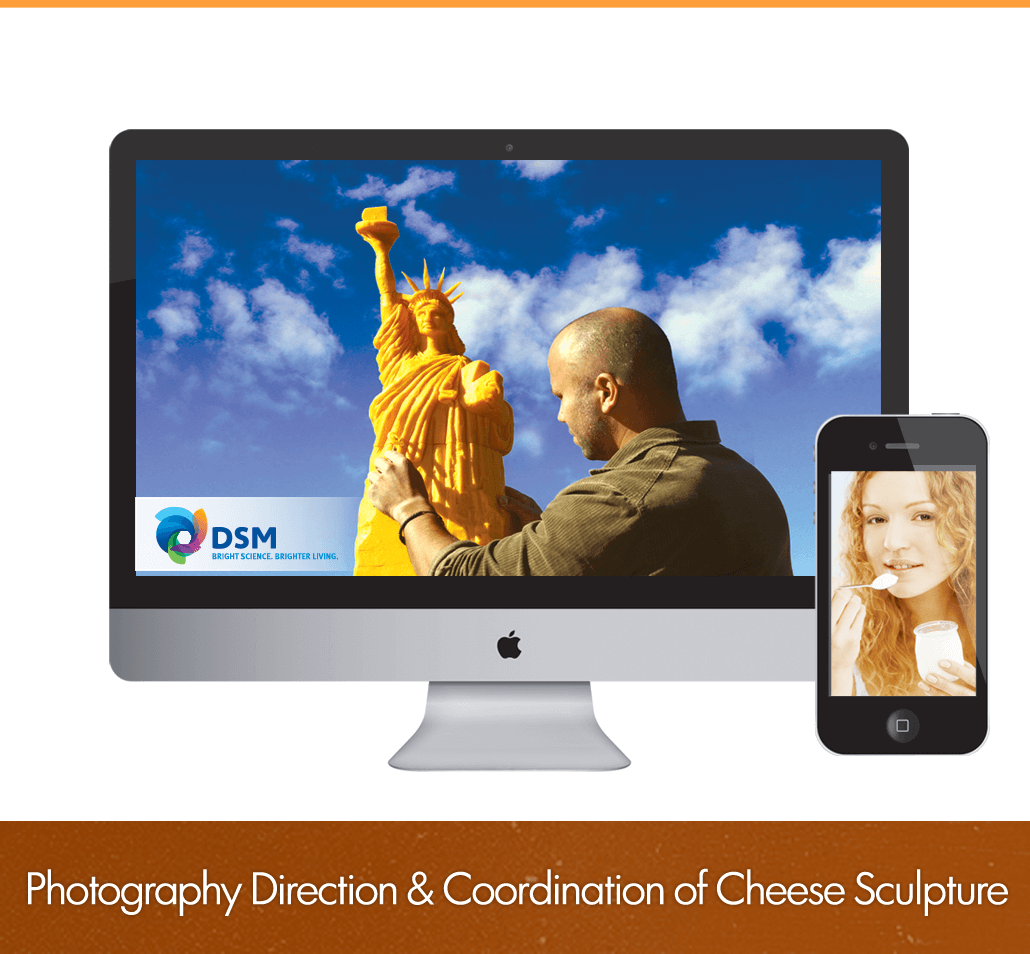 photography direction and coordination of cheese sculpture
