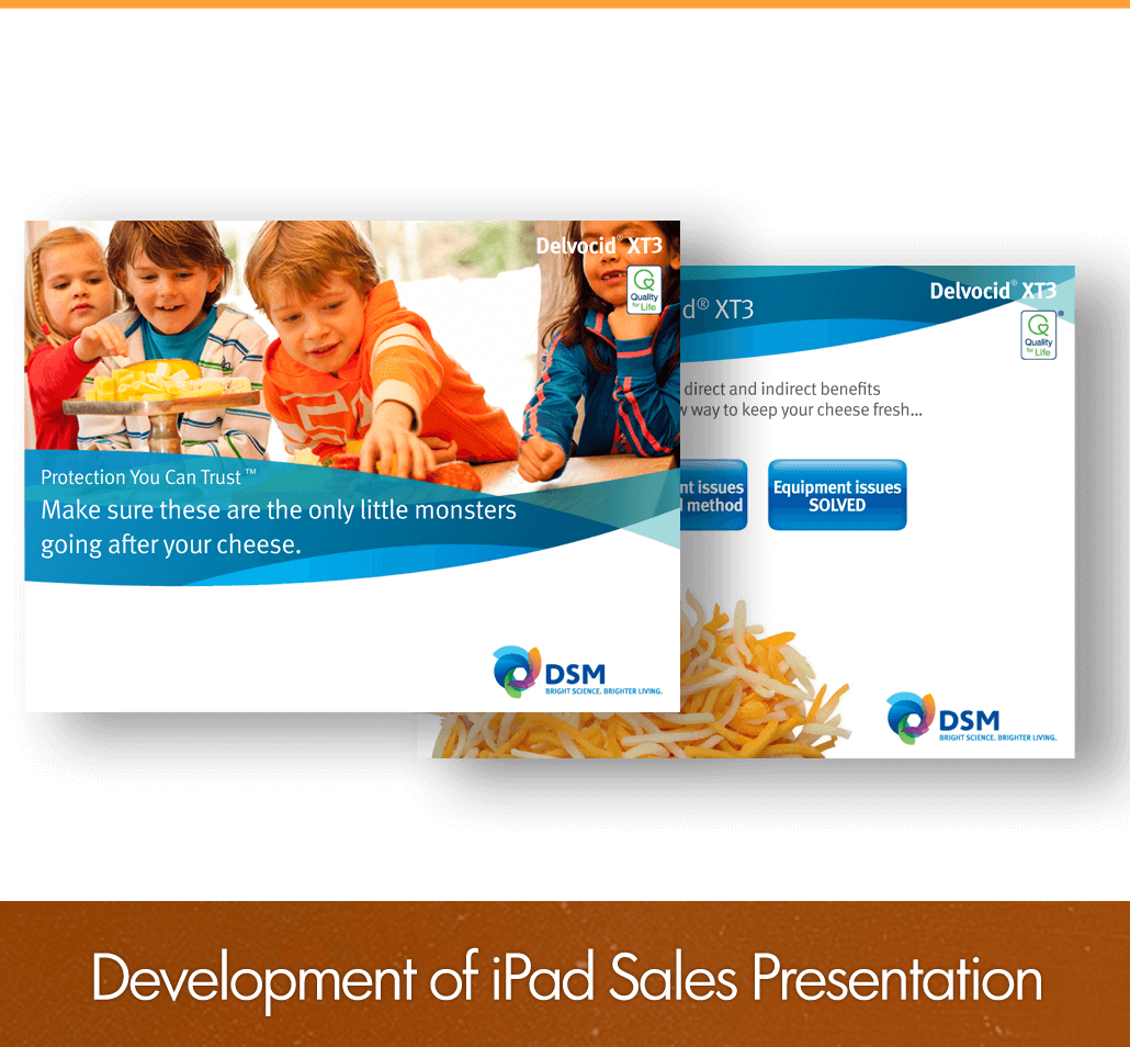 development of iPad sales presentation