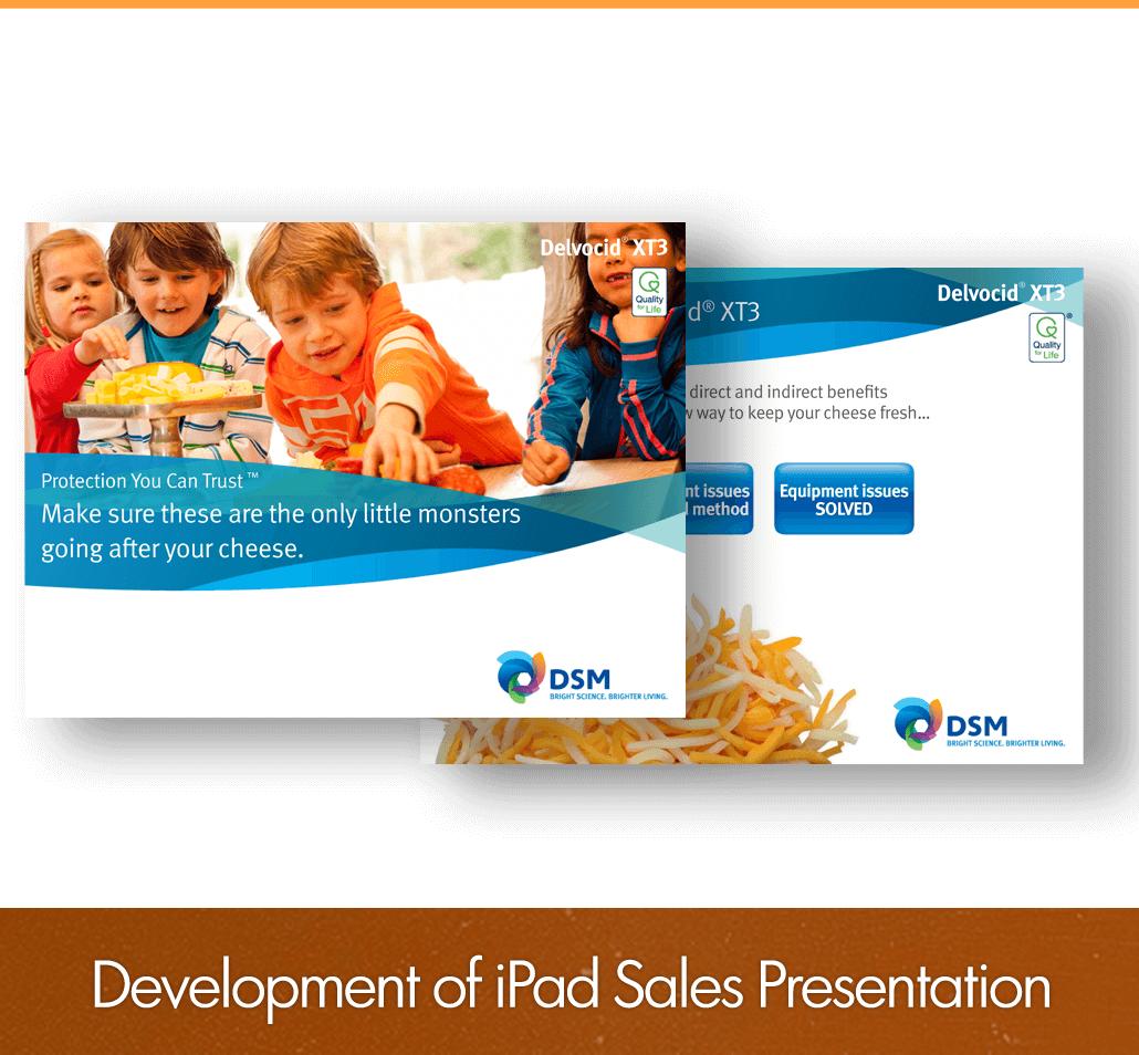 development of iPad sales presentation
